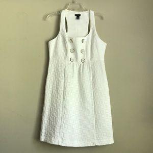 NEW DIRECTIONS white racer-back dress
